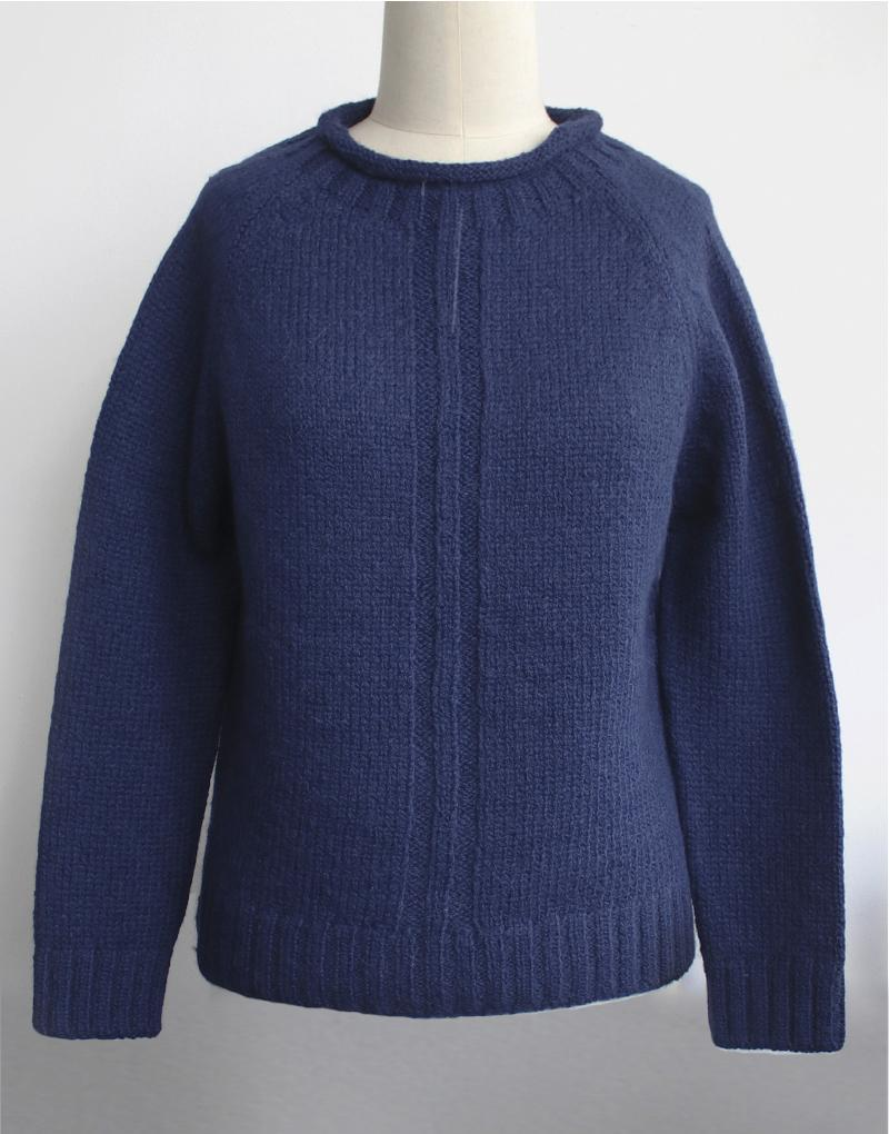 Baby Alpaca Bea Sweater in Azul