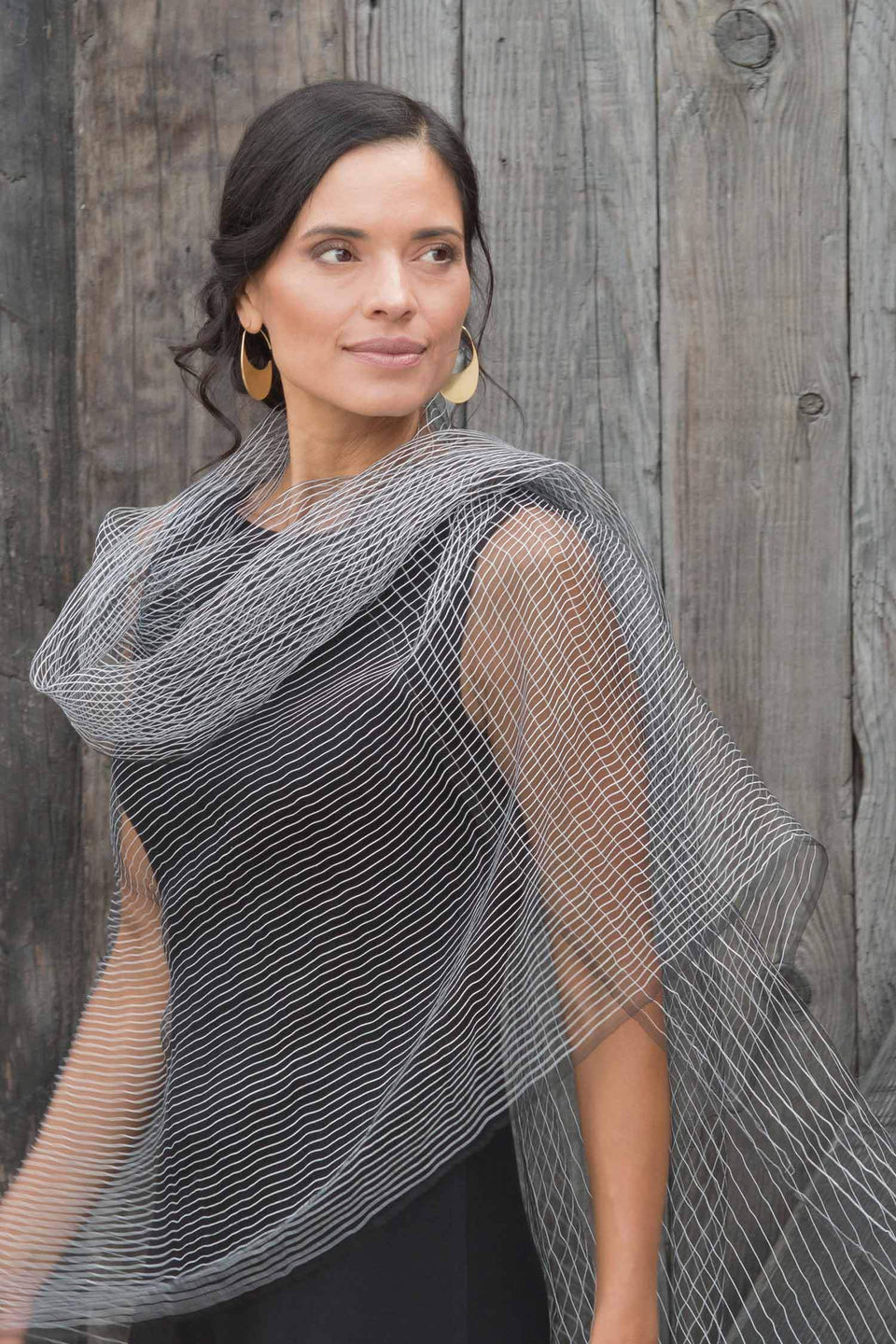 Silk Parallel Structure Scarf