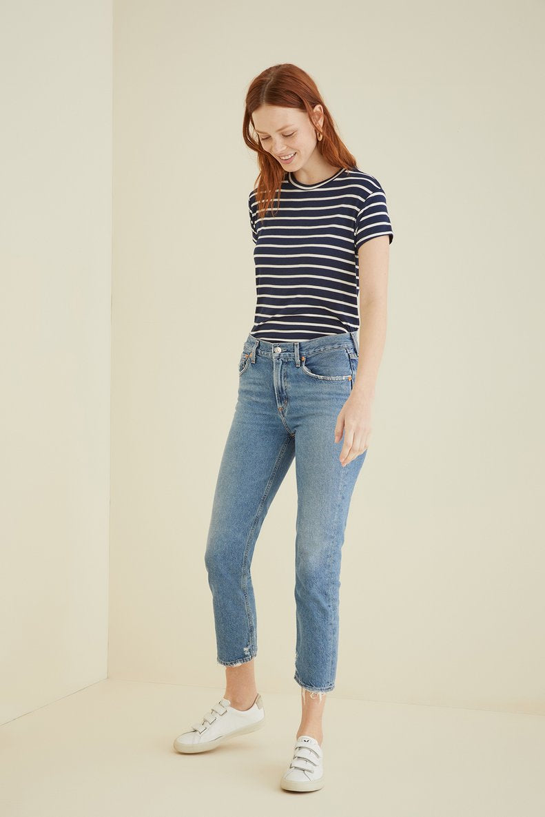 Casey Tee in Basque Stripe