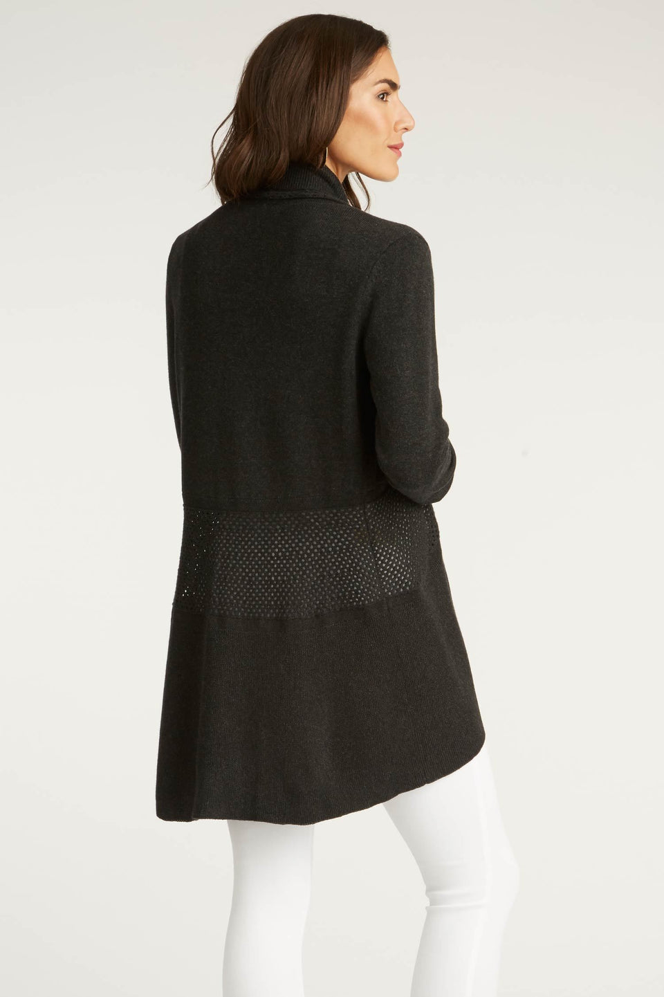 Circle Cardigan in Noir