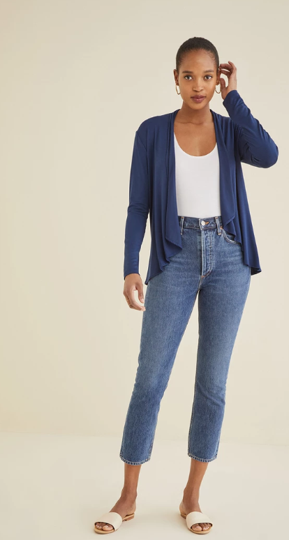 Michaela Cardigan in Navy
