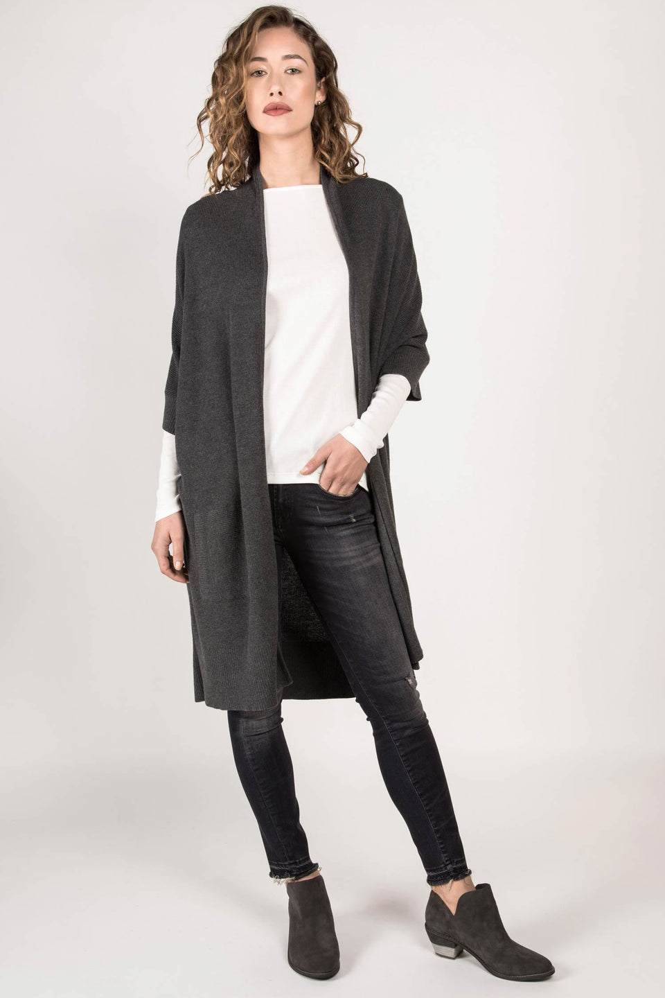 Dolman Cardigan in Charcoal