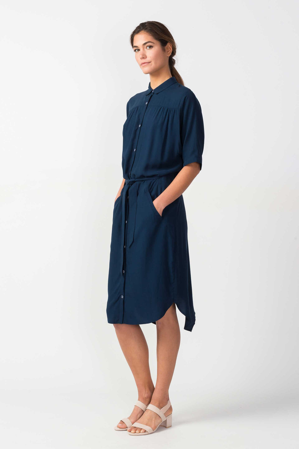 Urrika Dress in Dark Blue