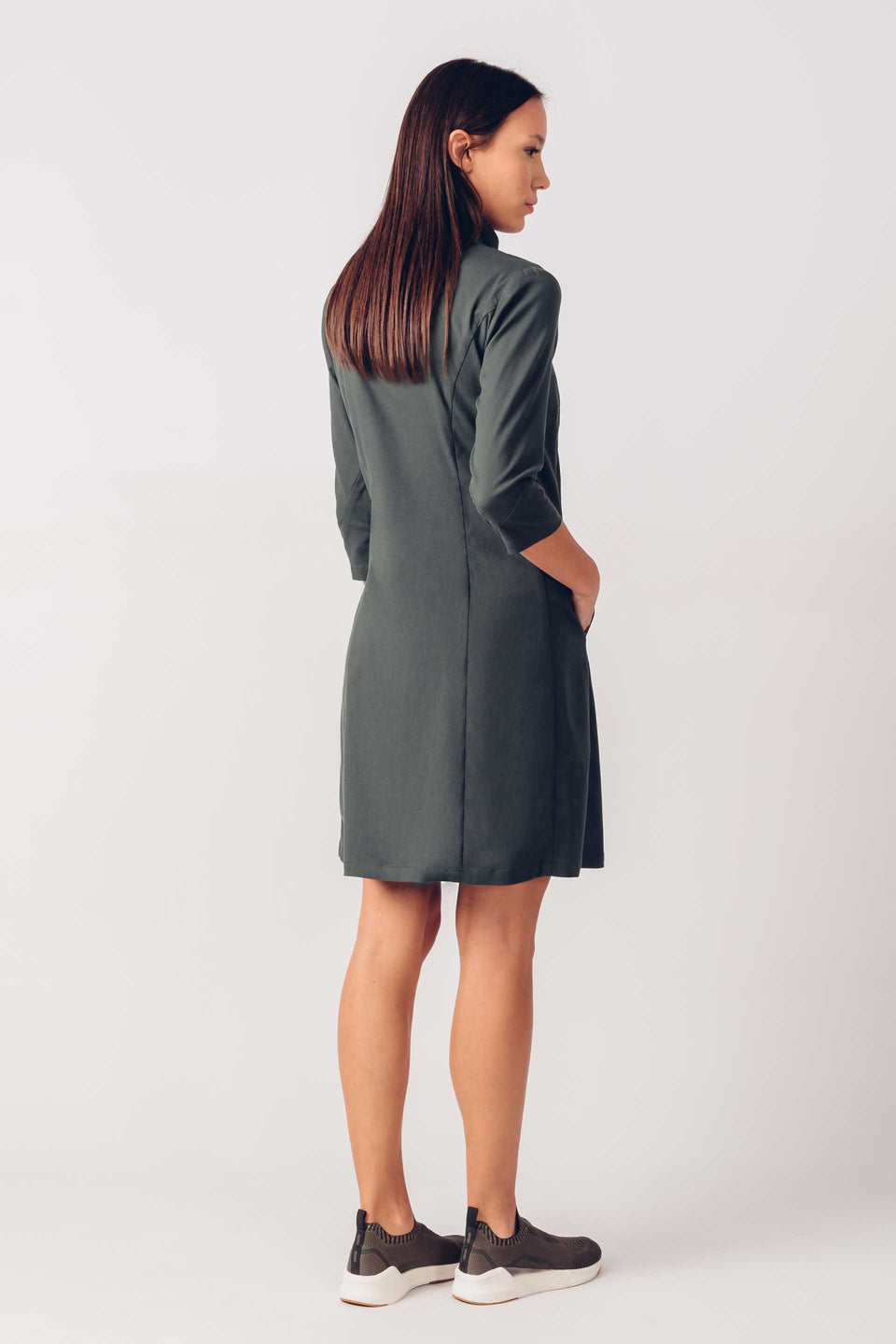 Kora Dress in Dark Green