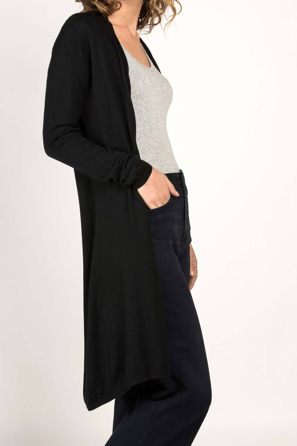 Essential Knit Cardigan in Black