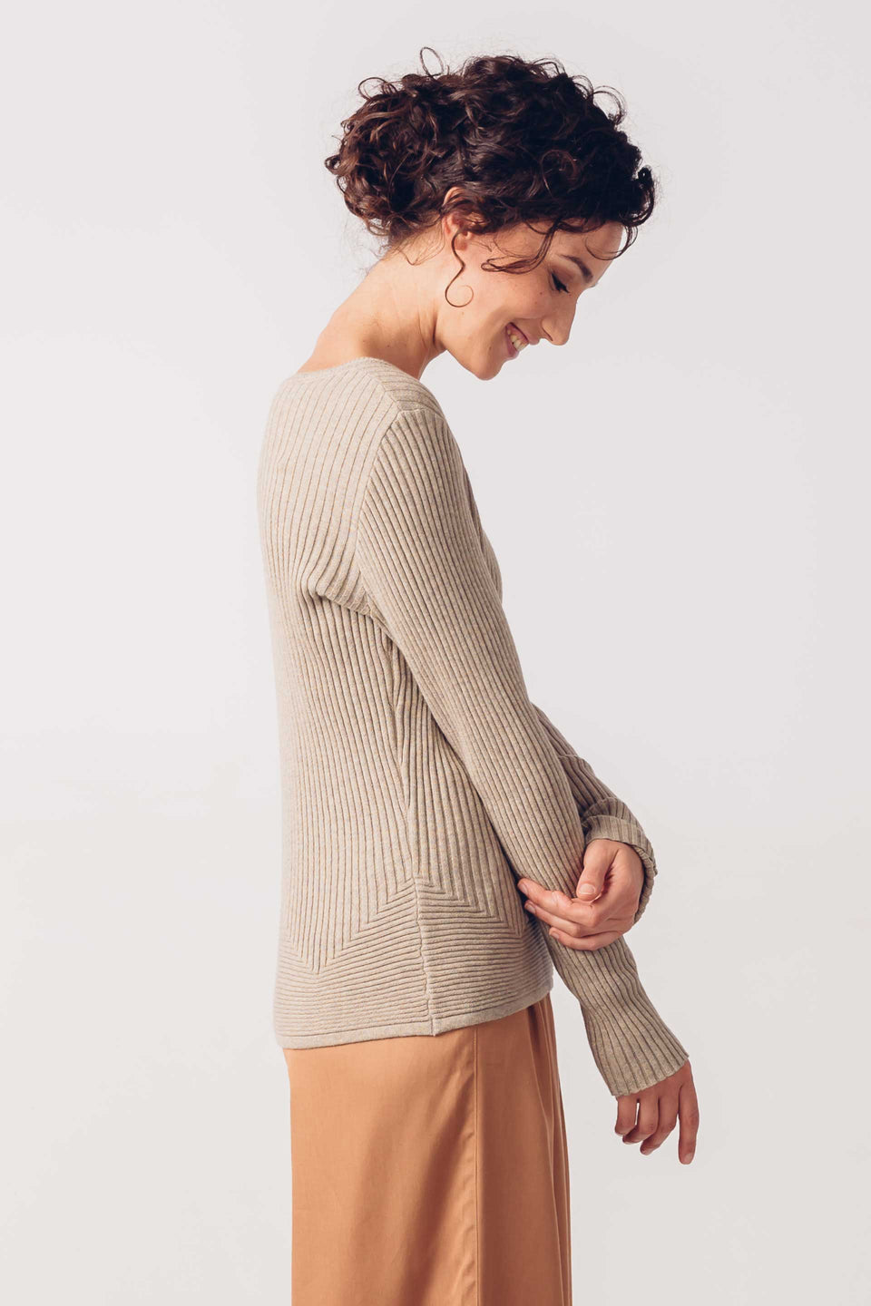 Haitza Sweater in Beige