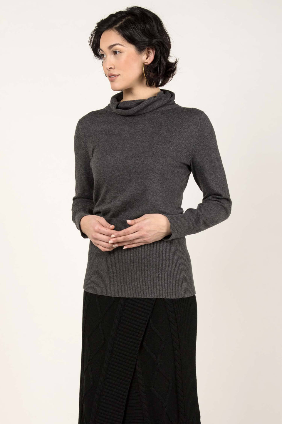 Knit Turtleneck in Charcoal