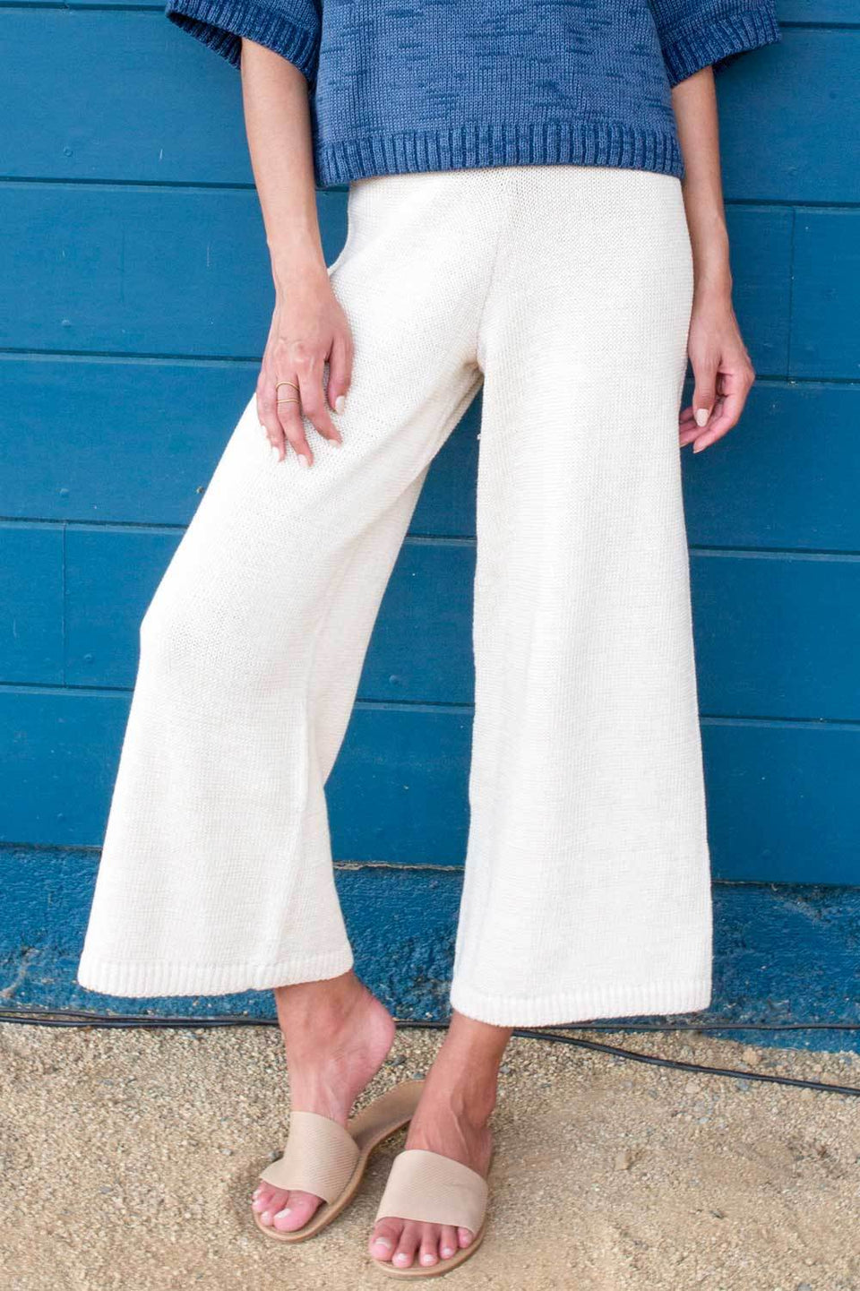 Jersey Knit Pants in Ivory