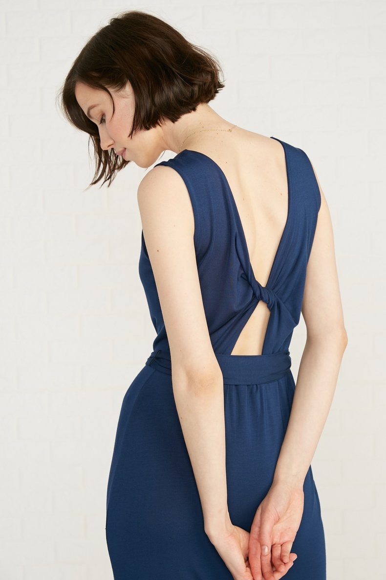 Sheryl Midi Dress in Navy