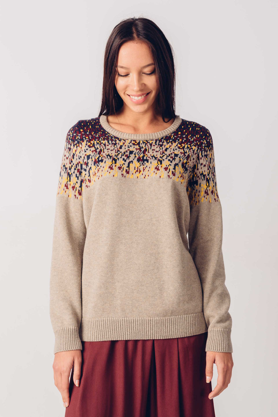 Iradi Sweater in Beige