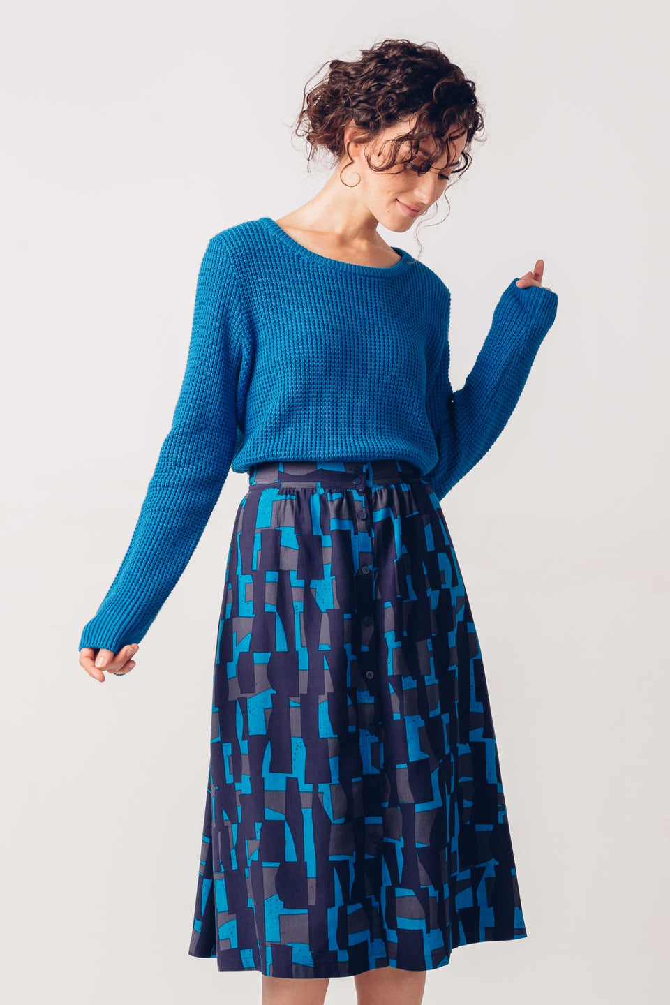 Iradi Sweater in Cyan