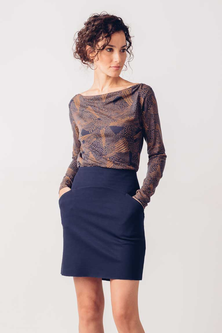 Redene Skirt in Navy