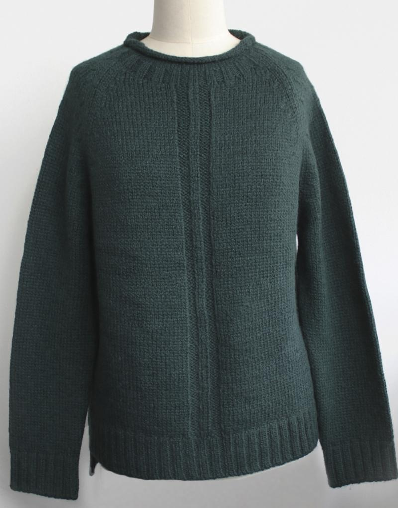 Baby Alpaca Bea Sweater in Green