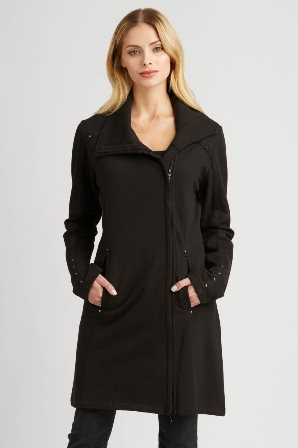 Urban Zip Coat in Black
