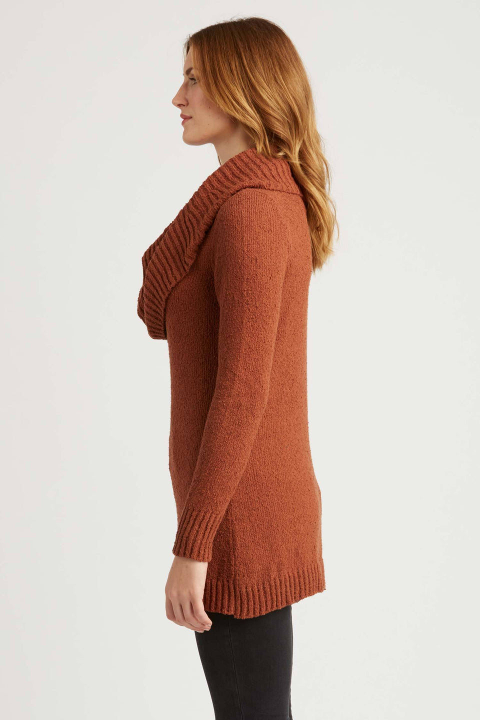 Bardot Pullover Sweater in Cognac