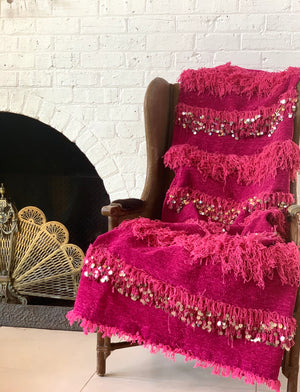 Fuchsia Wedding Blanket