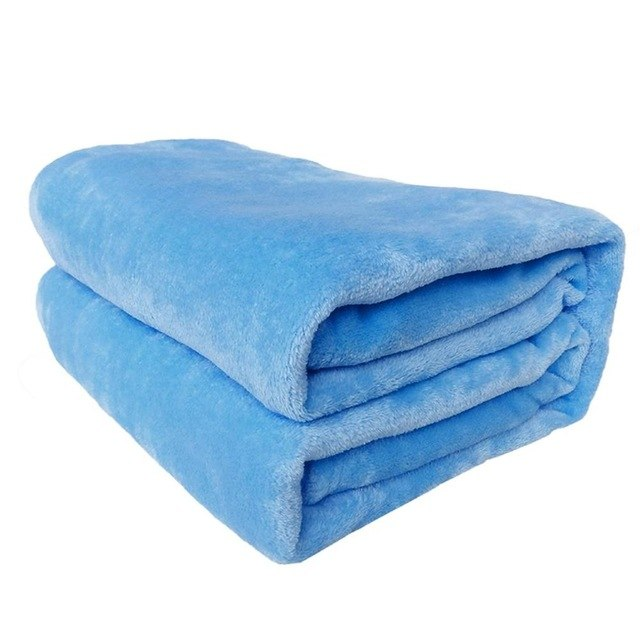 Solid Color Flannel Blanket Comfortable