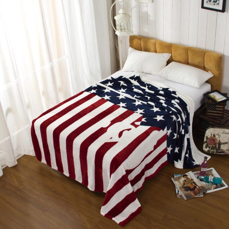 Throw American Flag Plush Air