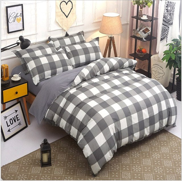 Naturelife Plaid Printed Bedding Set