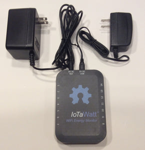 IoTaWatt Base with USB Power Supply and AC adapter (North America)