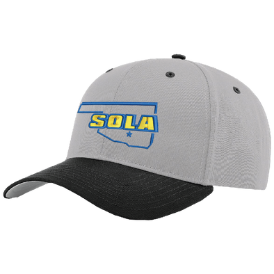 SOLA ProTwill SnapBack - Grey/Black w/2 Color Logo
