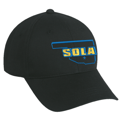 SOLA Chino Twill Cap - Black w/2 Color Logo