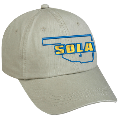 SOLA Low Profile Unstructured Twill Cap - Khaki w/2 Color Logo