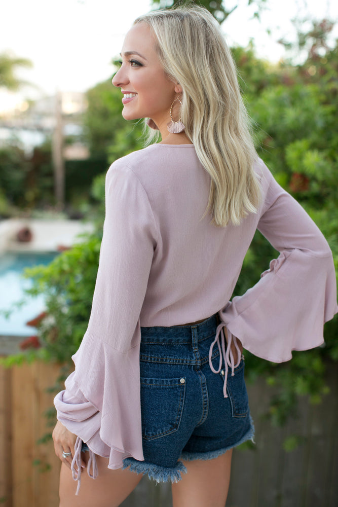 DUSTY ROSE BUTTON UP BLOUSE