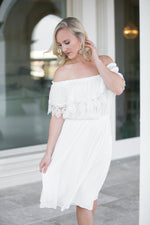 PURE BLISS DRESS- IVORY