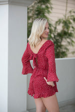LOVE STORY RED POLKA DOT ROMPER