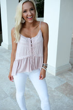 SWEETHEART STITCHED CAMI- BALLET PINK