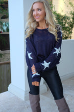 AMERICAN SWEETHEART STAR KNIT SWEATER