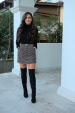 LEOPARD LOVE MINI SKIRT