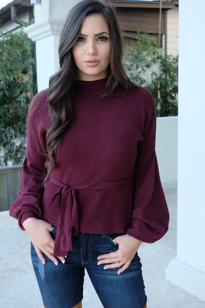 CAMILA CASHMERE SWEATER- MULBERRY