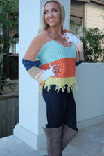 WANDERLUST COLOR BLOCK SWEATER