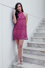 PRIMROSE LACE DRESS-MAUVE