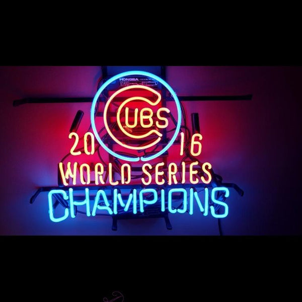 Desung 2016 Chicago Cubs World Series Champions MLB Man Cave (Sports - Baseball) Neon Sign