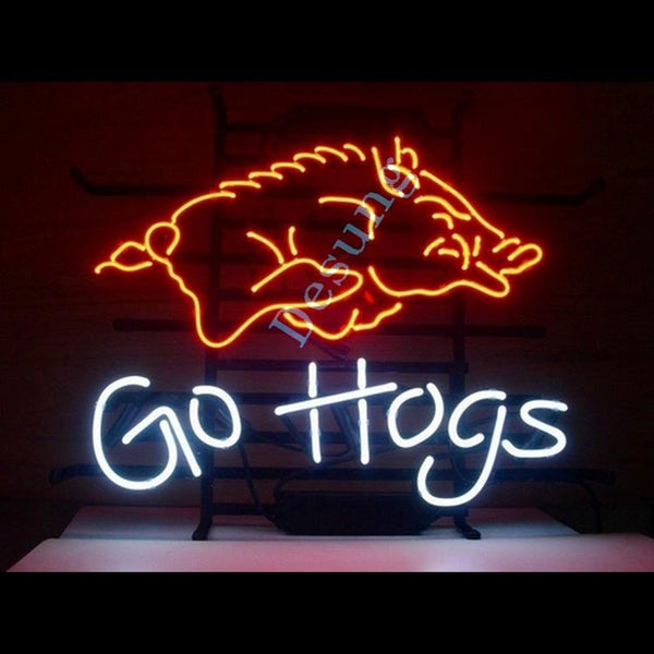Desung Arkansas Razorbacks Go Hogs (Sports - Baseball) neon sign