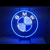Desung BMW (Auto) vivid neon sign, front view, turned on