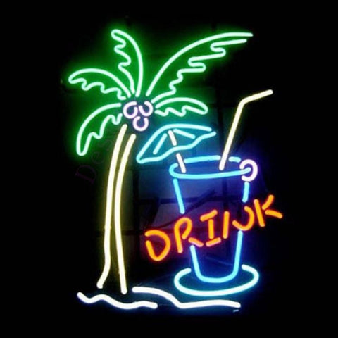 Desung Beach Cocktail Drink (Business - Bar) Neon Sign