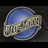 Desung Blue Moon (Alcohol - Beer) vivid neon sign, front view, turned off