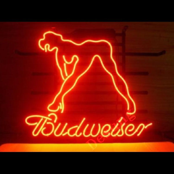 Budweiser Girl alcohol beer bar Neon Sign