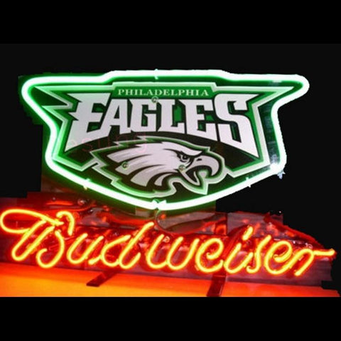 Budweiser Philadelphia Eagles (Sports - Football Alcohol - Beer Business - Bar) Neon Sign