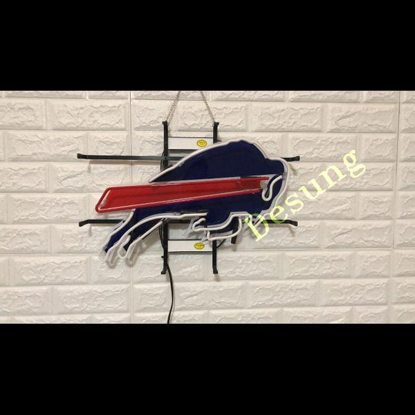 Desung Buffalo Bills (Sports - Football) vivid neon sign, front view, turned off