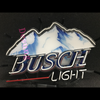 Desung Busch Light (Alcohol - Beer) vivid neon sign, front view, turned off