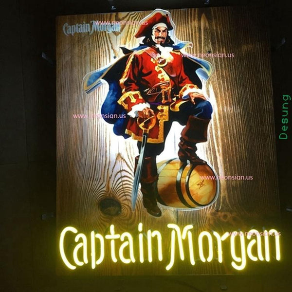 Desung Captain Morgan (Alcohol - Rum) vivid neon sign