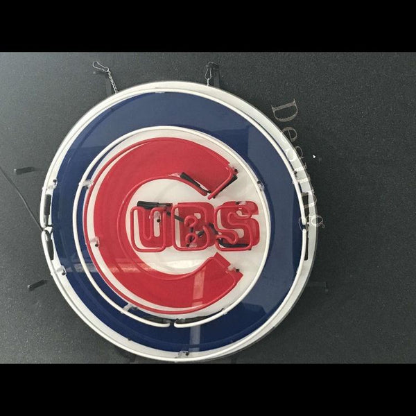 Desung Chicago Cubs (Sports - Baseball) vivid neon sign, isometric view, turned off