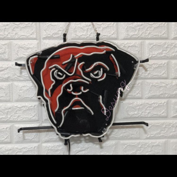 Desung Cleveland Browns (Sports - Football) vivid neon sign, front view, turned off