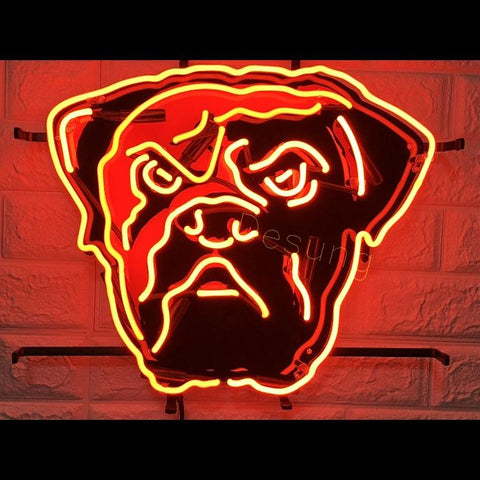 Desung Cleveland Browns (Sports - Football) vivid neon sign, front view, turned on