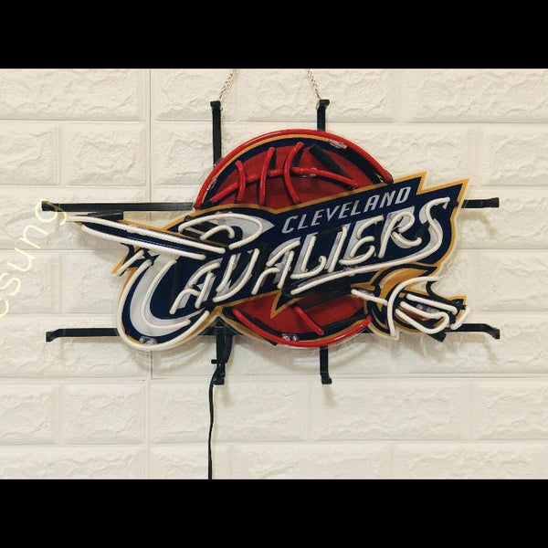 Desung Cleveland Cavaliers (Sports - Baseball) vivid neon sign, front view, turned off
